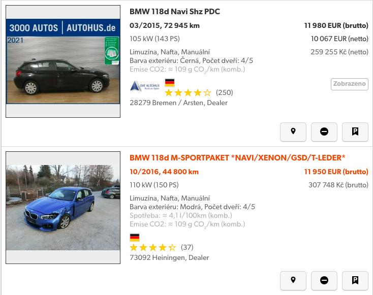 podezřelá nabídka na mobile.de
