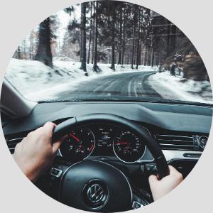 zkušební jízda při kontrole vozu