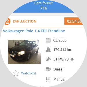 koupě aut aukce